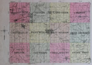 1908 Williamson County Map