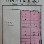 1908 Pope's Highland Plat Map