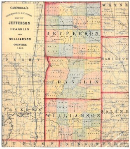 1869 Franklin Williamson County Map S