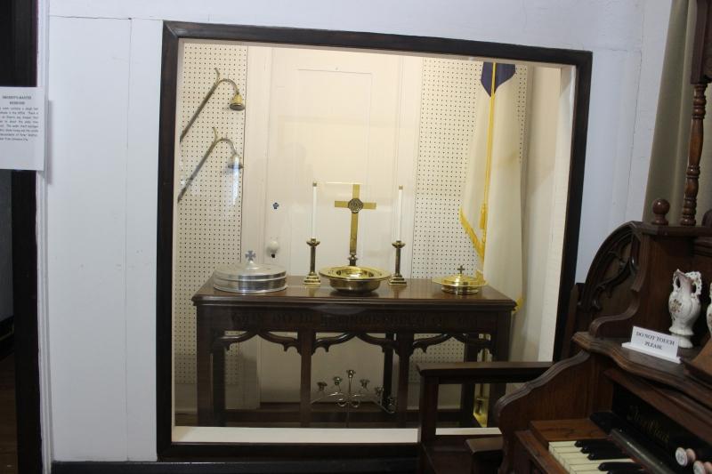 Warder Street Baptist Church Communion Table Display